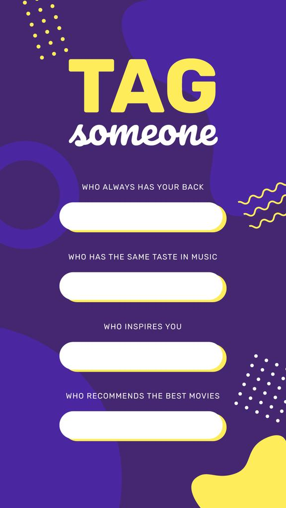 Tag Someone game on Memphis pattern - Bir Tasarım Oluşturun