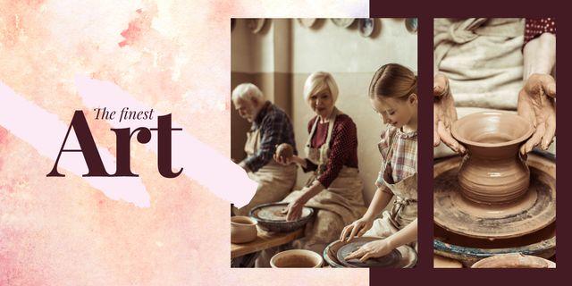 Potters creating in workshop Image – шаблон для дизайна