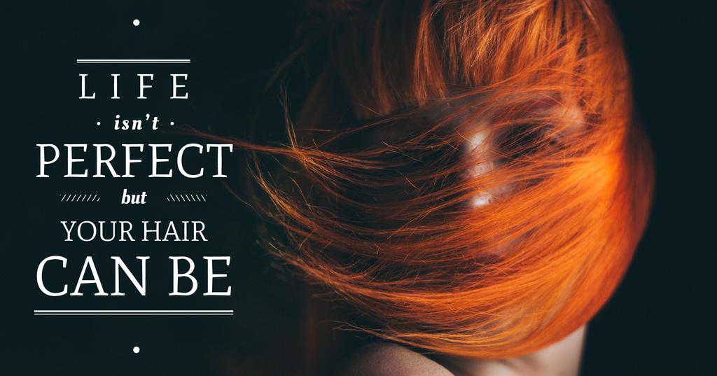 Hair beauty quote poster — Создать дизайн