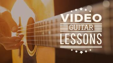 Music Lessons Ad Man Playing Guitar | Youtube Channel Art