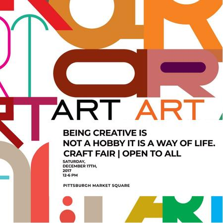Creativity Quote on colorful Letters Instagram AD Modelo de Design