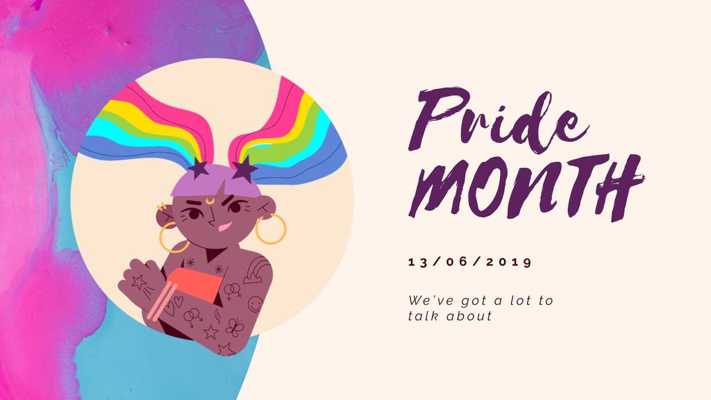 Confident lgbt girl — Modelo de projeto