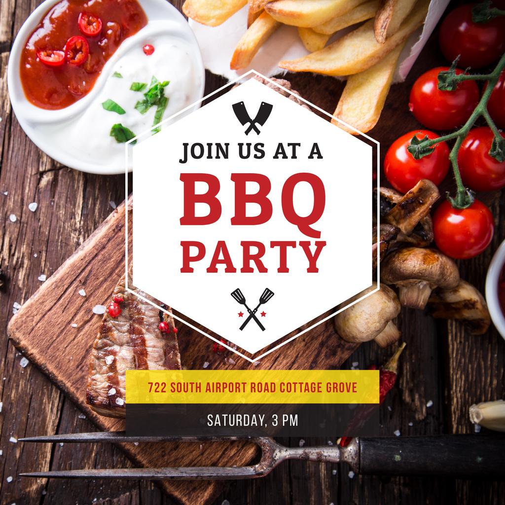 BBQ party poster — Maak een ontwerp