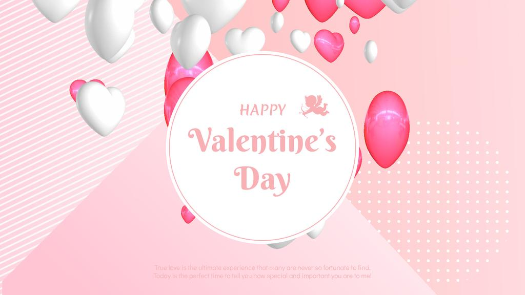 Flying Valentine's Day Hearts in Pink — Create a Design