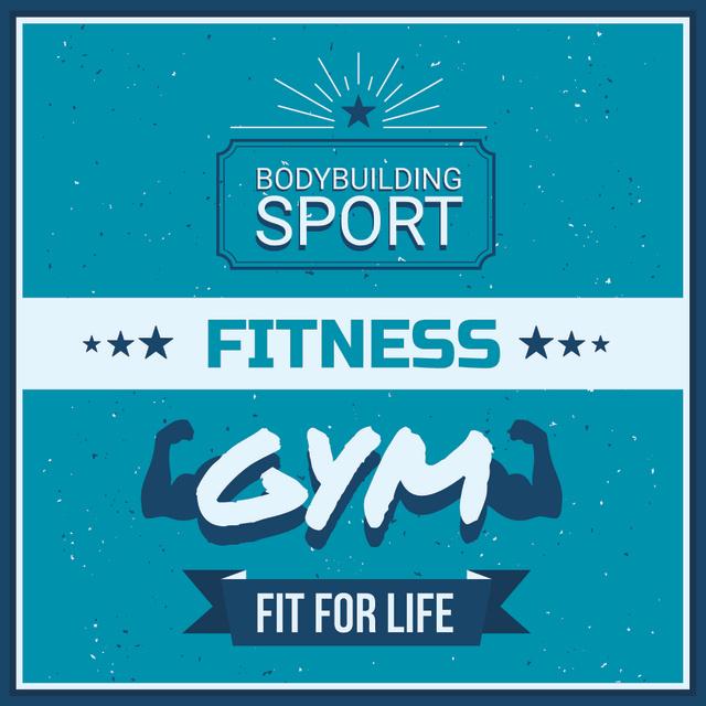 Plantilla de diseño de Gym promotion in blue Instagram AD