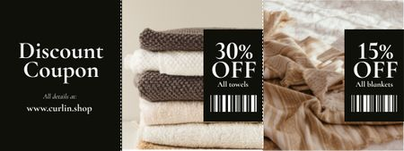 Home Textiles offer Coupon Design Template