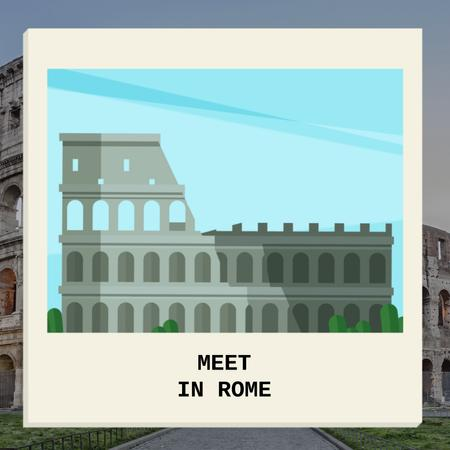 Designvorlage Ancient Rome in famous Places für Animated Post