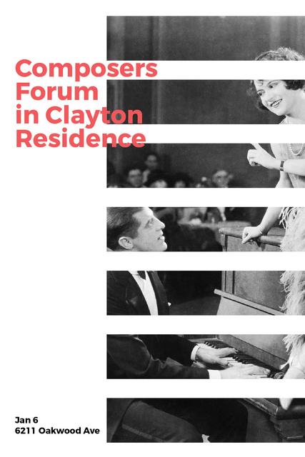 Composers Forum Invitation Pianist and Singer Tumblr – шаблон для дизайну