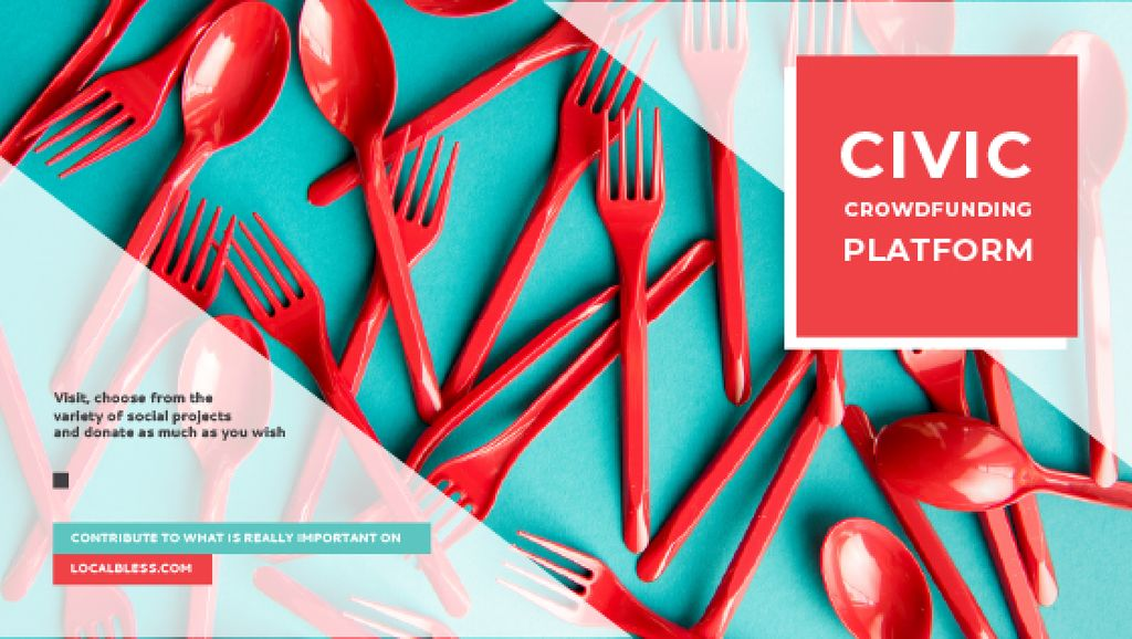 Crowdfunding Platform Red Plastic Tableware — Создать дизайн