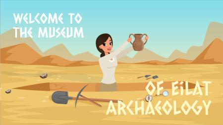 Szablon projektu Archaeologist discovering ancient vase Full HD video