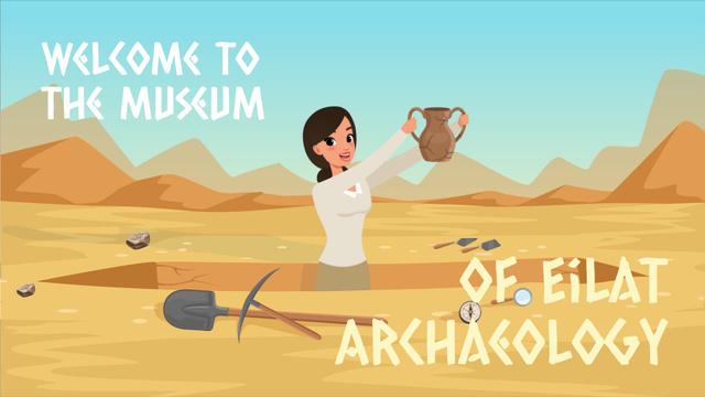 Archaeologist discovering ancient vase Full HD video Πρότυπο σχεδίασης