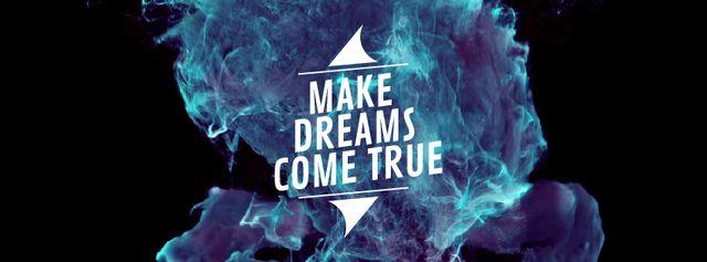 Rising blue flame Facebook Video cover Modelo de Design