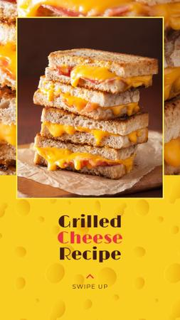 Grilled Cheese Ad on Yellow Instagram Story Tasarım Şablonu