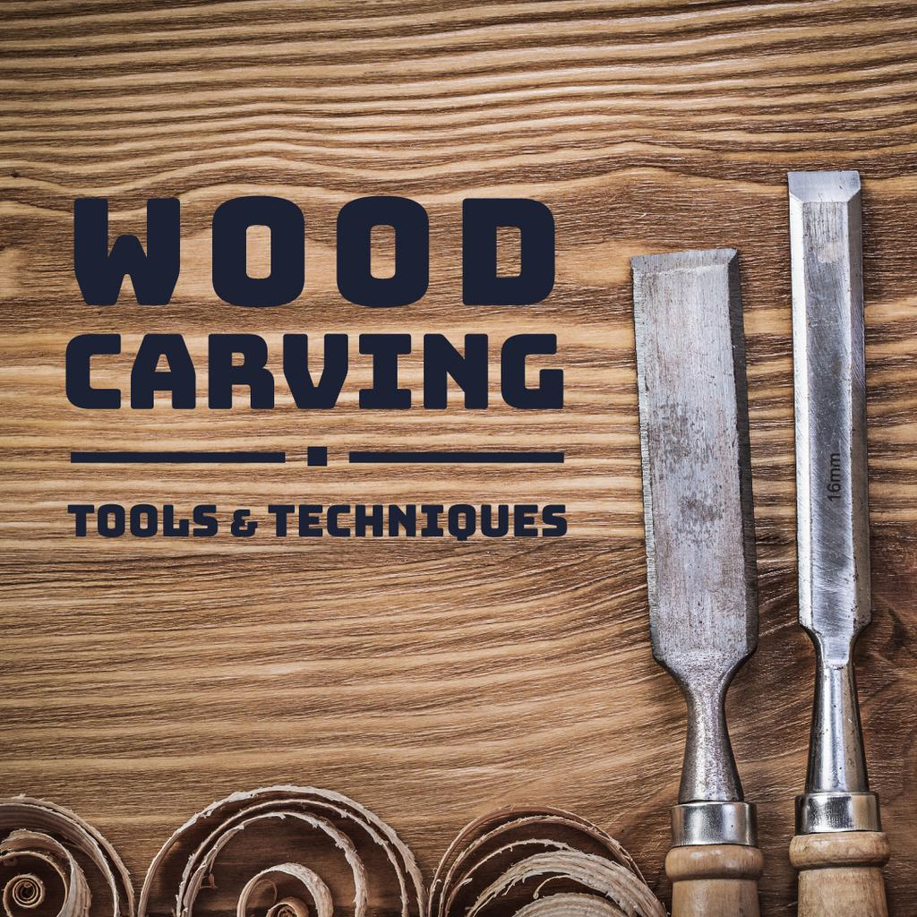 Wood carving tools and techniques poster — Create a Design