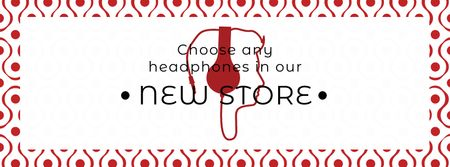 Ontwerpsjabloon van Facebook cover van Gadgets Sale Man in Headphones
