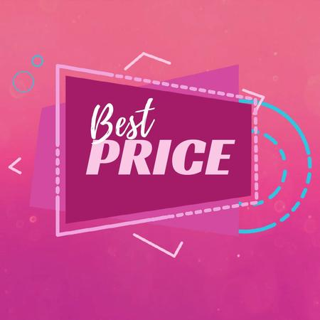 Szablon projektu Sale Offer in Simple geometric frame Animated Post
