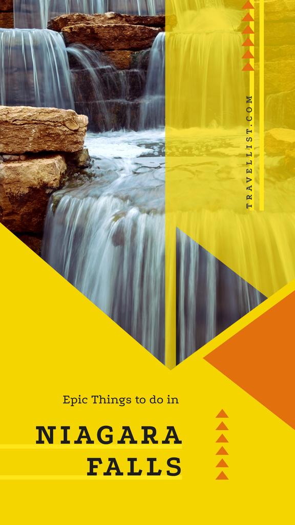 Scenic waterfall view — ein Design erstellen