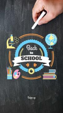 Back to Schools education and sciences icons