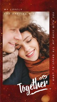 Happy Romantic Couple in Winter | Vertical Video Template