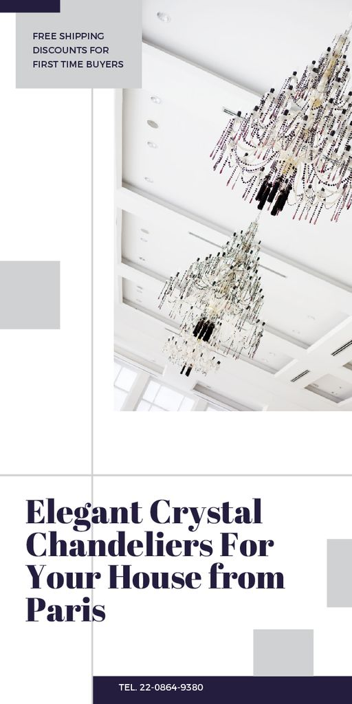 Elegant crystal chandeliers from Paris — Créer un visuel