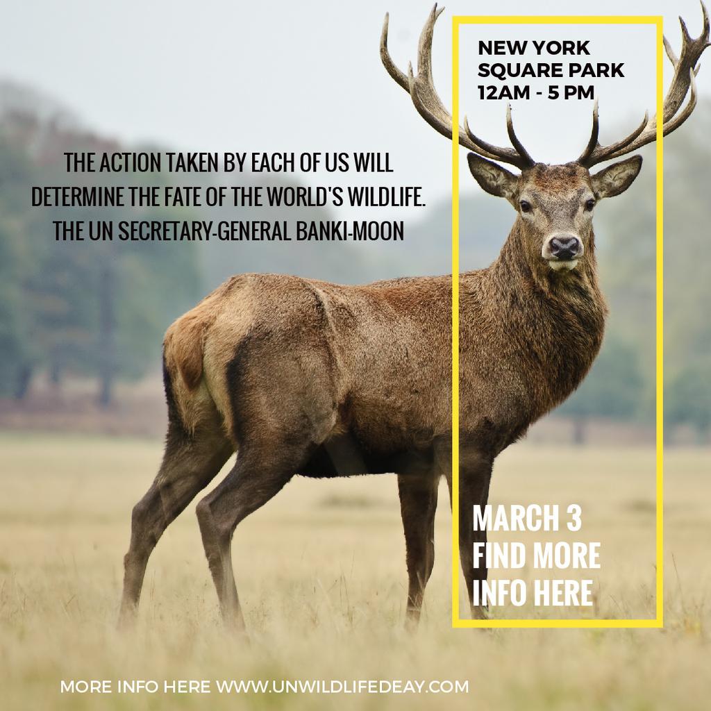 Deer on Natural Habitat — Создать дизайн