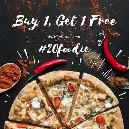Modèle de visuel Pizza Special Offer with Red Pepper - Instagram AD