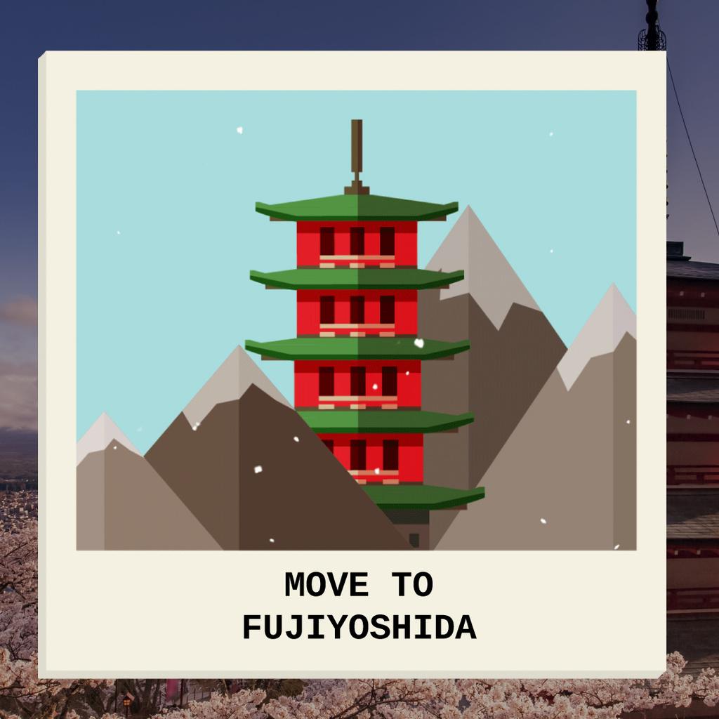 Fujiyoshida famous Travelling spots — Maak een ontwerp