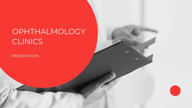 Ophthalmology Clinic Services ad Presentation Wide Modelo de Design