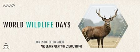 Ontwerpsjabloon van Facebook cover van World wildlife day Announcement