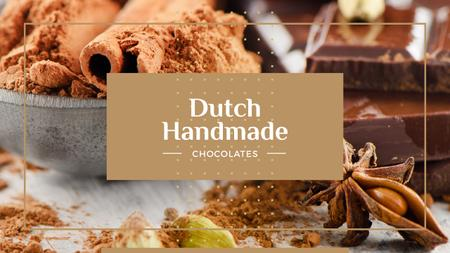 Ontwerpsjabloon van Youtube van Dutch handmade chocolates