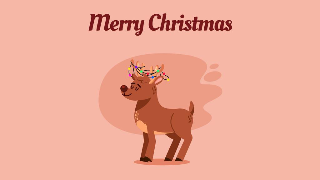 Jumping Christmas deer — Створити дизайн