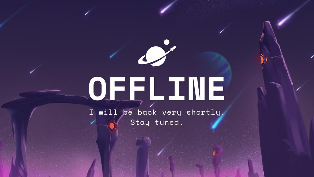 Game Stream Ad with Fairy Space — Maak een ontwerp