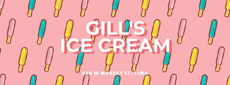 Ice cream popsicles Facebook Video cover Tasarım Şablonu