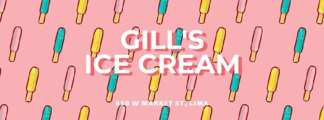 Ontwerpsjabloon van Facebook Video cover van Ice cream popsicles