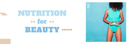 Nutrition for Beauty Email header Modelo de Design