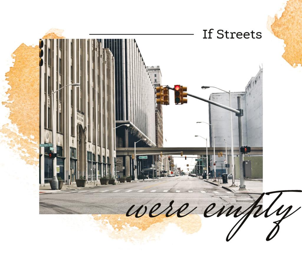 Traffic lights on city street — Design Template