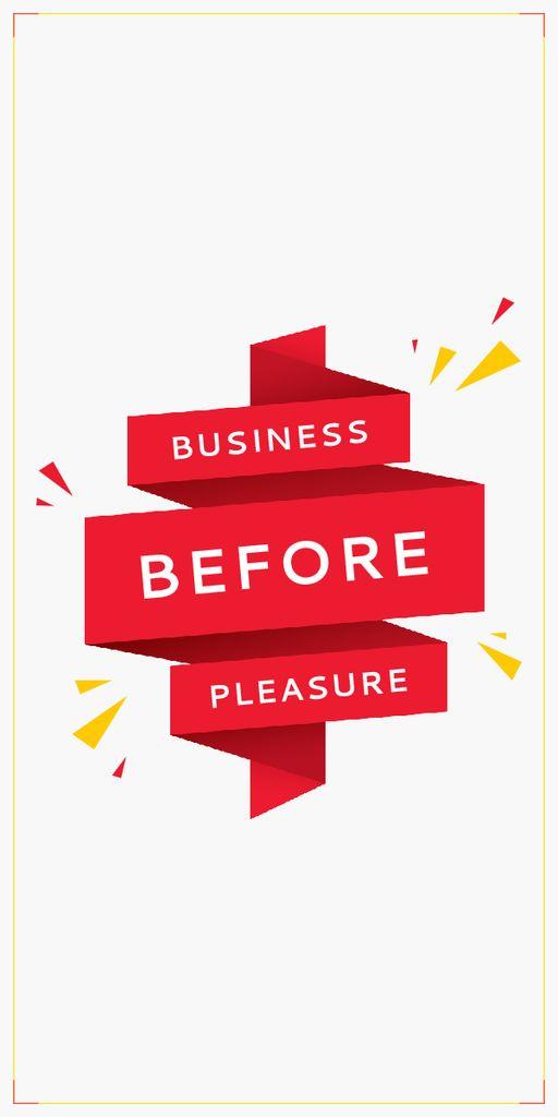 Business before pleasure — Maak een ontwerp