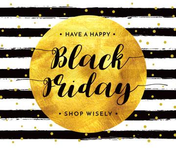 Black Friday Sale in Golden Frame