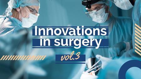 Surgery Innovations Doctors Working in Masks Youtube Thumbnail Modelo de Design