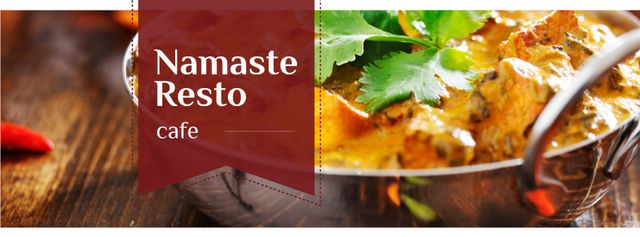 Designvorlage Indian Cuisine Dish Offer für Facebook cover