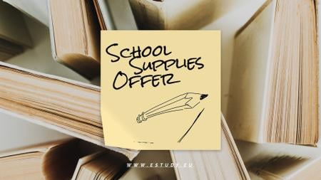 Back to School Sale Paper Books Full HD videoデザインテンプレート