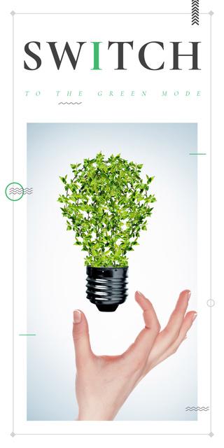 Plantilla de diseño de Woman holding Plants Light Bulb Graphic