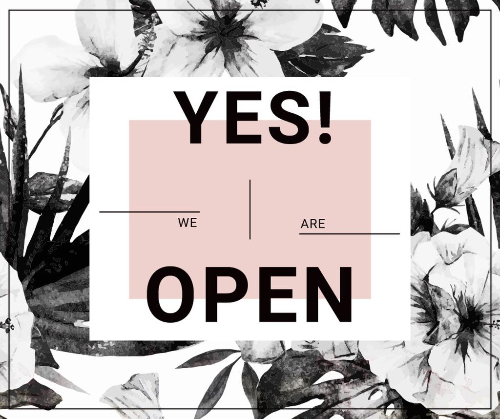 Opening Announcement on Floral Pattern — Maak een ontwerp