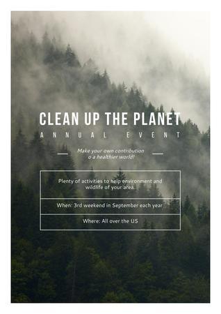 Szablon projektu Clean up the Planet Annual event Poster
