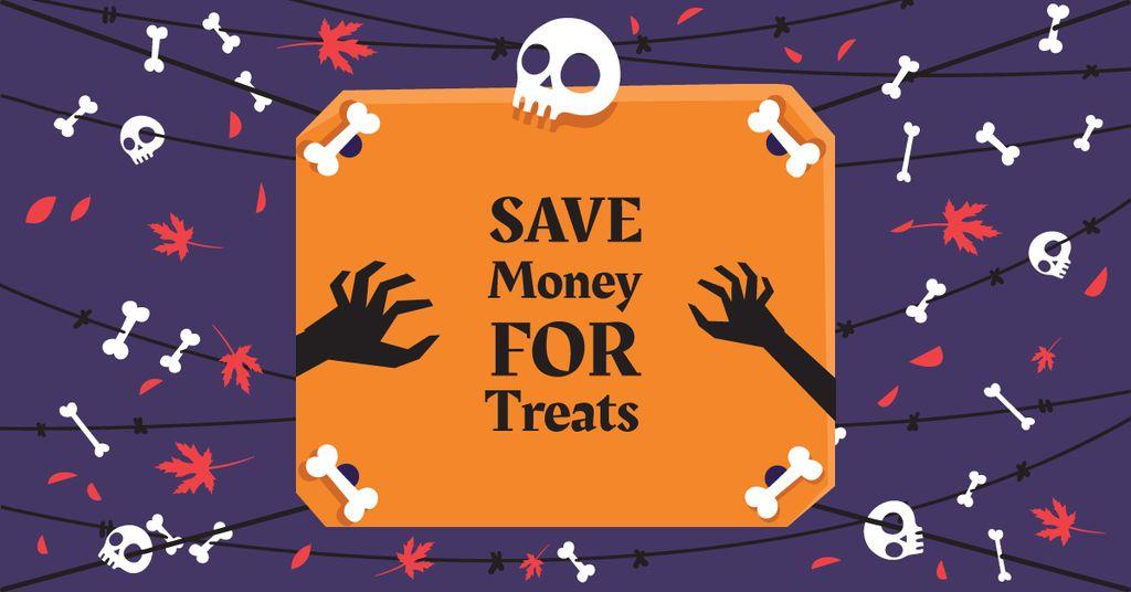 Halloween holiday with Skulls — ein Design erstellen