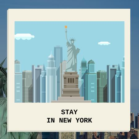 New York city Card Animated Post Modelo de Design
