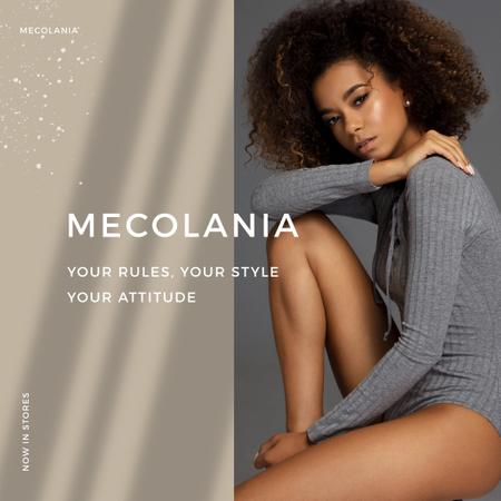 Modèle de visuel Fashion Offer with Young Attractive Woman - Instagram
