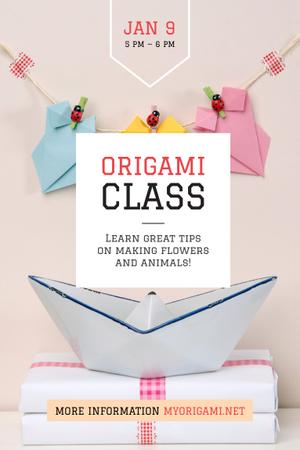 Origami class Announcement Pinterest – шаблон для дизайна
