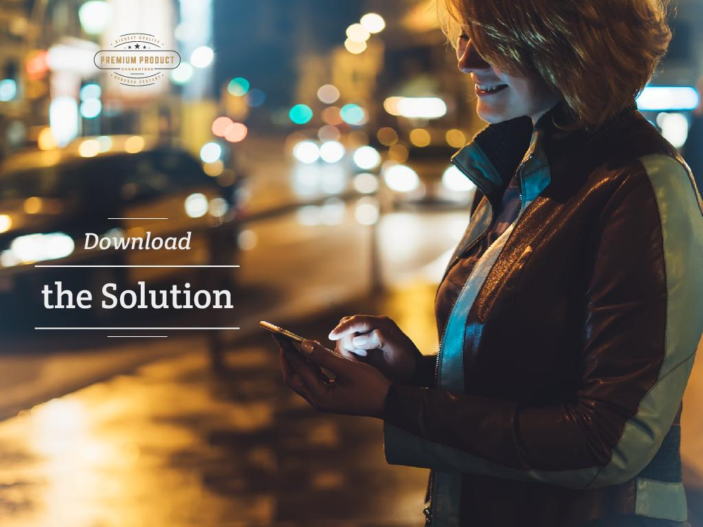 Download the solution on mobile phone — Modelo de projeto