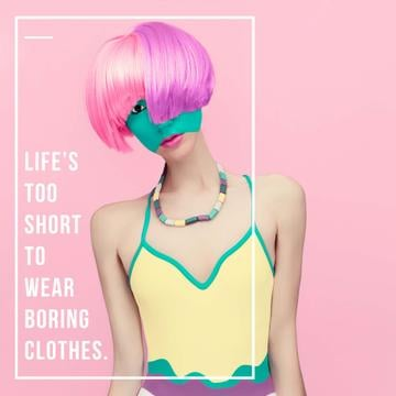 Fashion quote with Unusual Woman